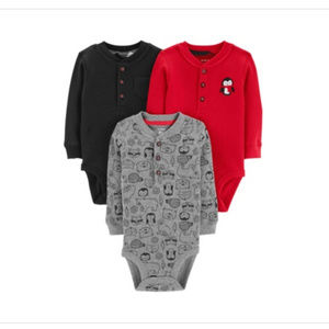 Carter's NWT Carter's Baby Boys 3-Pack Thermal 9